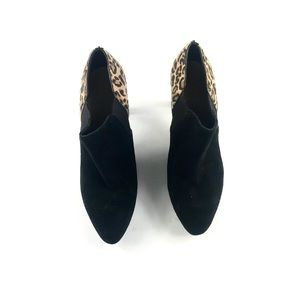 Cole Haan Women's Black Cheetah Ankle Booties